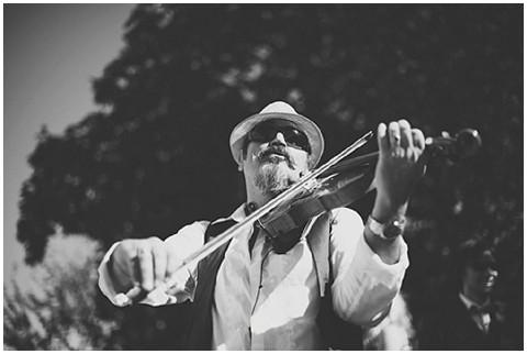 black and white violinist
