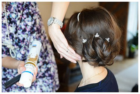 bridal hair tutorial updo