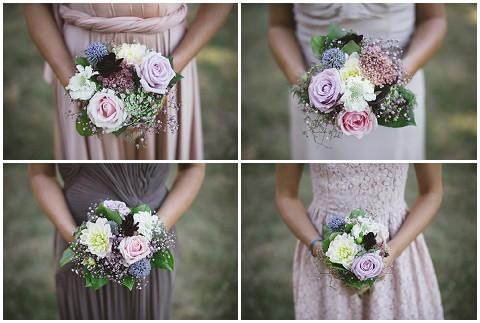 pastel bridesmaid flower
