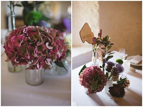 plum wedding flowers