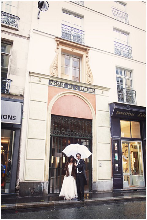 rain paris wedding