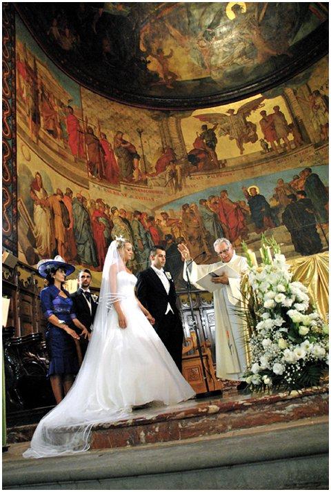wedding church setting
