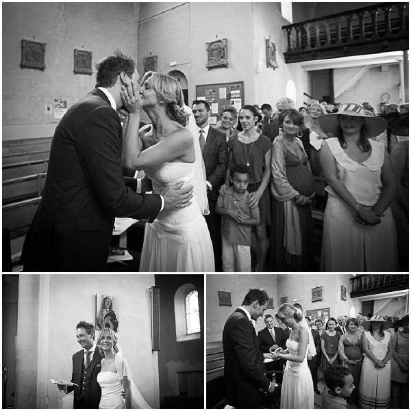 black white church wedding
