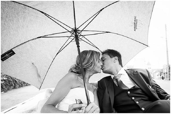 bride groom umbrella