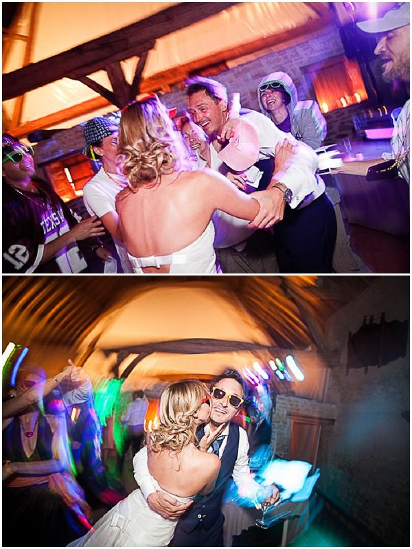 bright wedding reception