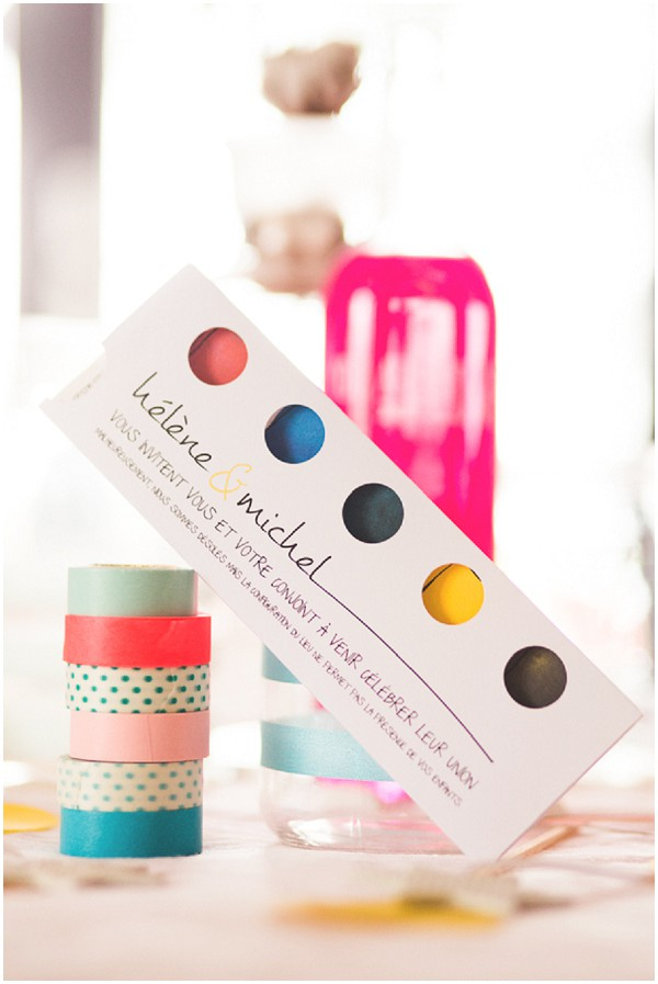 colourful wedding invites