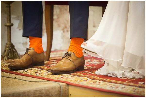 groom orange socks