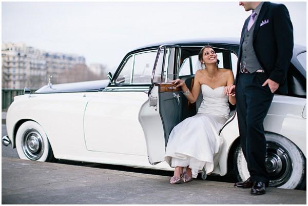 vintage rolls wedding paris