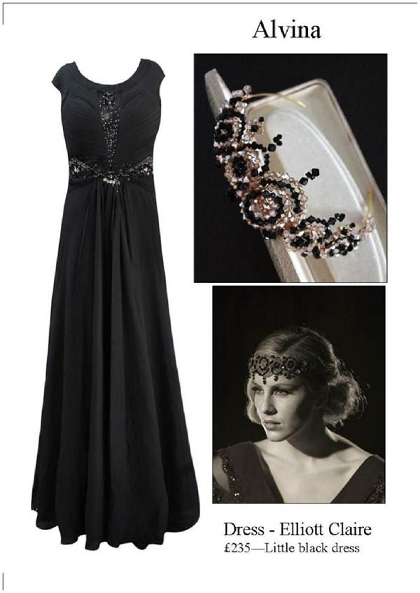 vintage black Cannes dress