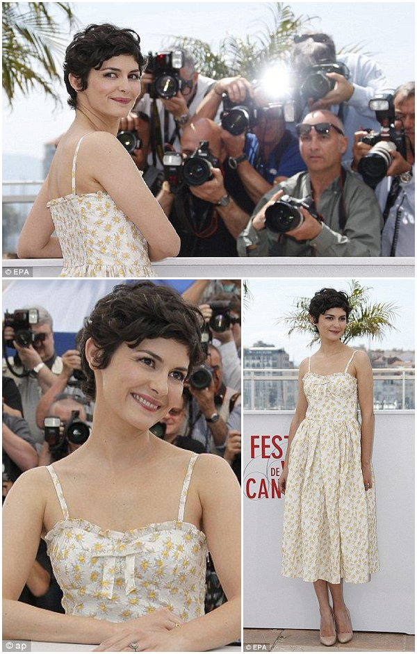 audrey tautou as mistress of ceremonies at Cannes Film Festival 2013