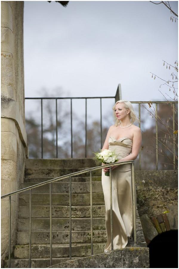 champagne gold vintage bride