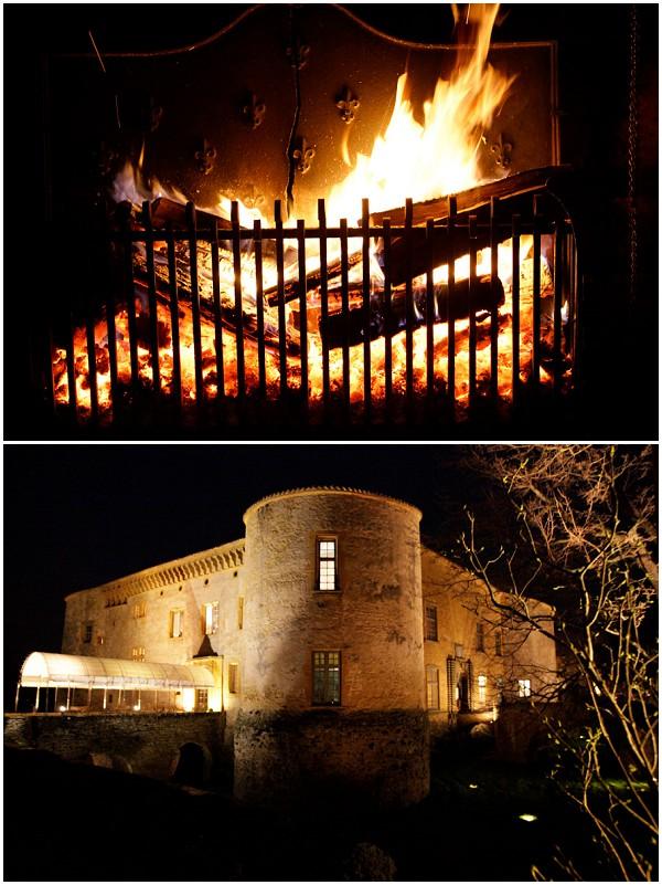 chateau bagnols night