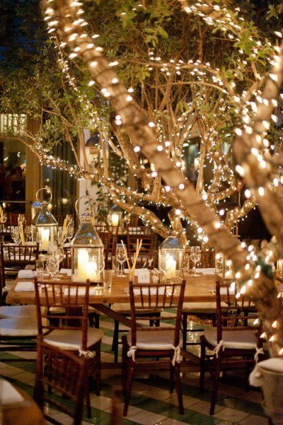 chateau fairy lights
