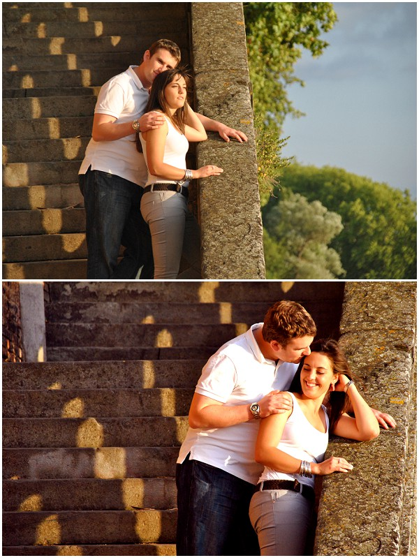 couple in love stairs