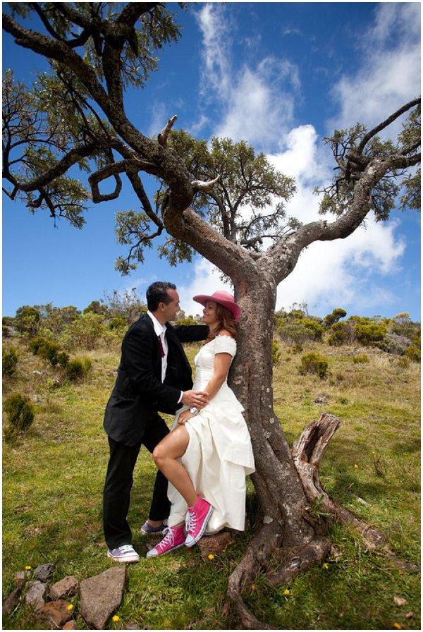 dramatic wedding tree