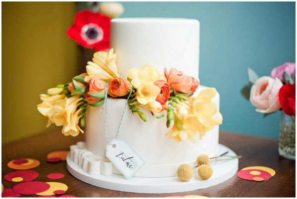 floral wedding ideas cake