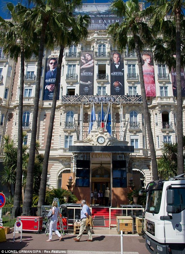 intercontinental cannes in France with Great Gatsby posters