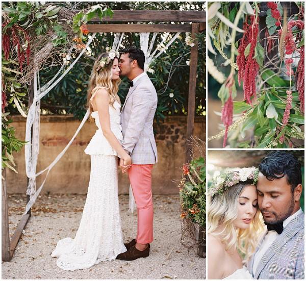 quirky outdoor wedding