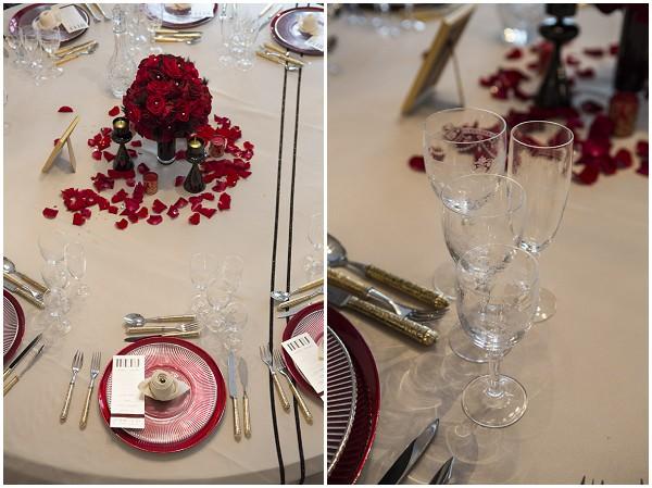 rose petal table