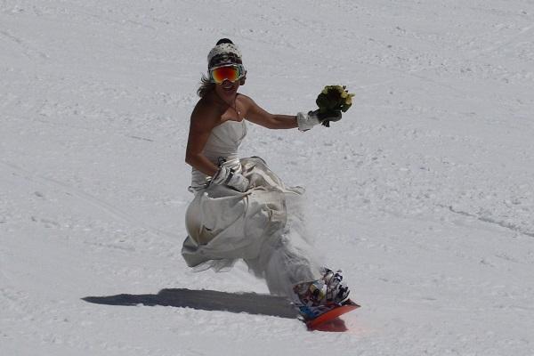 snowboarding trash the dress