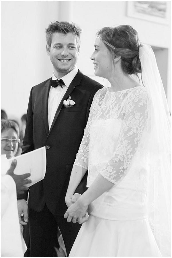 French wedding two piece dress