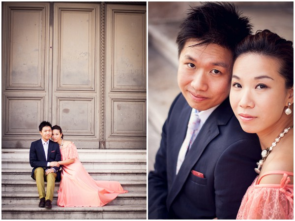 asian engagement shoot paris