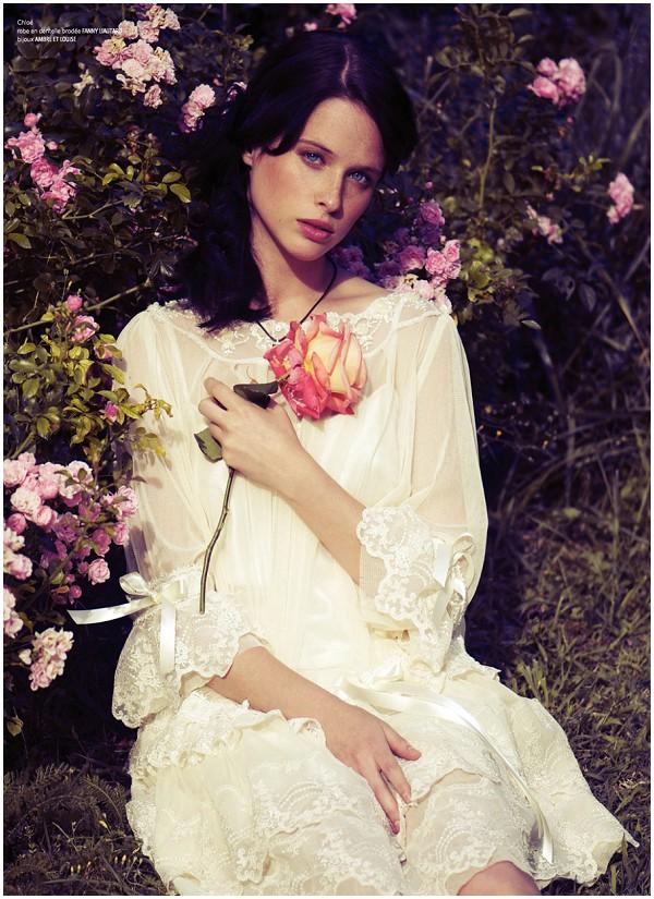 boho french style wedding dress