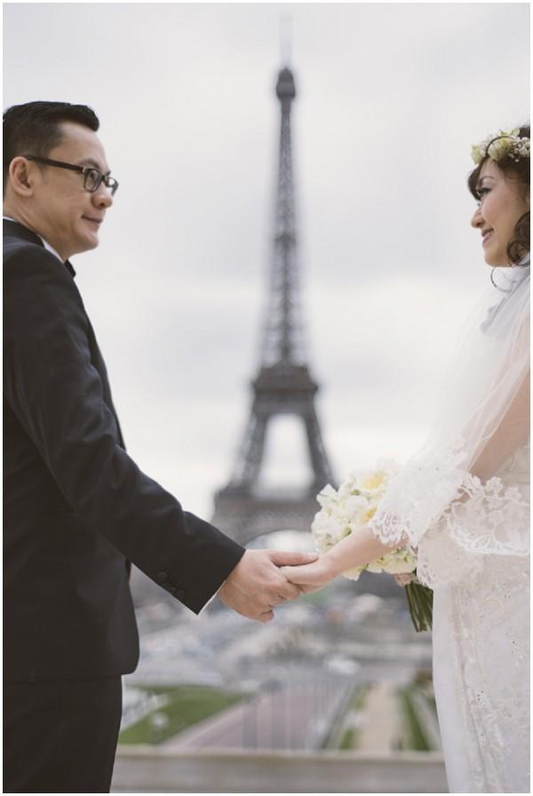 boho bride eiffel tower
