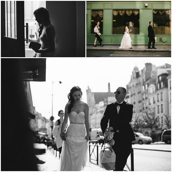 bride streets of Paris