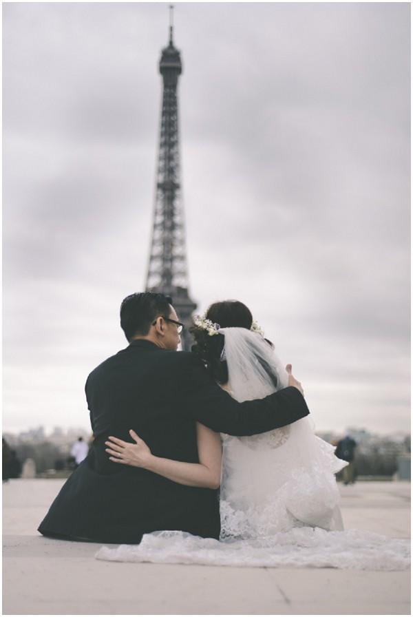 bride groom eiffeltower