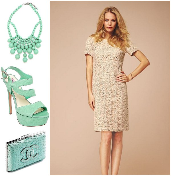 cream and mint fashion