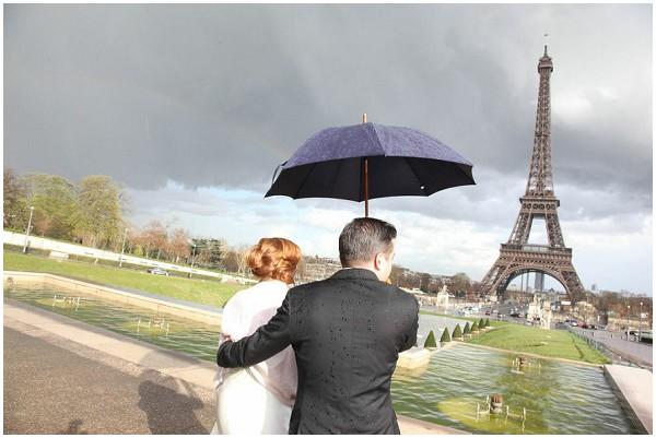 eiffel tower rain