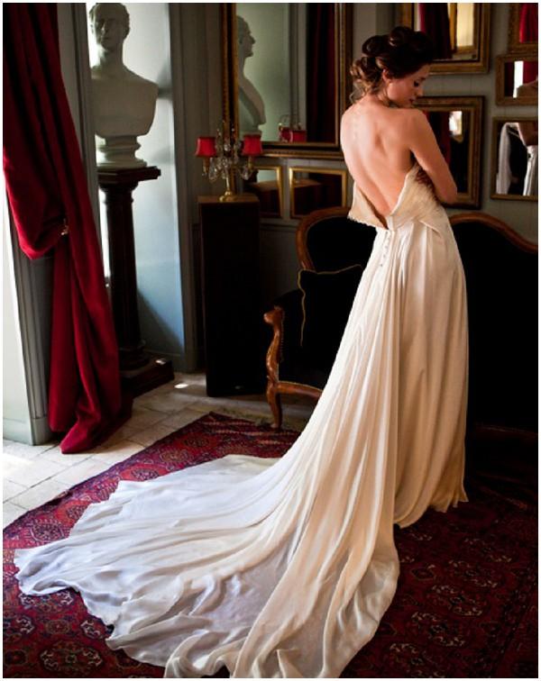 elegant French wedding dress