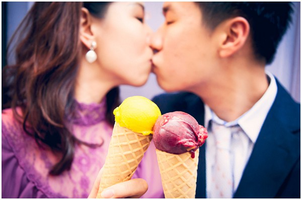 engagement photography icecream