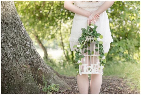floral bridcage