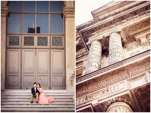 louvre engagement session