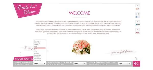 online wedding flower guide