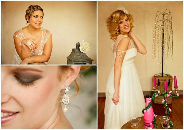 retro bridal style