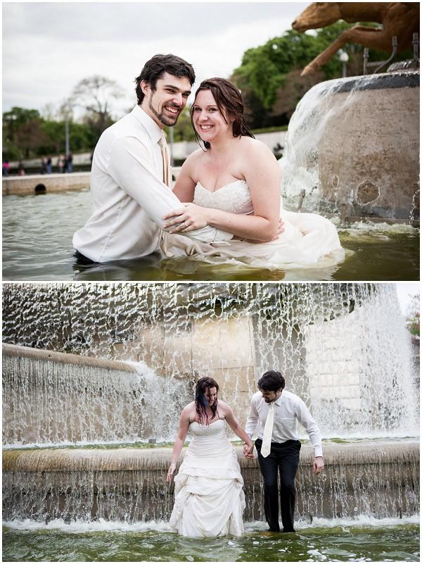 trash the dress fountain