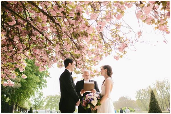 wedding under cherry blossom