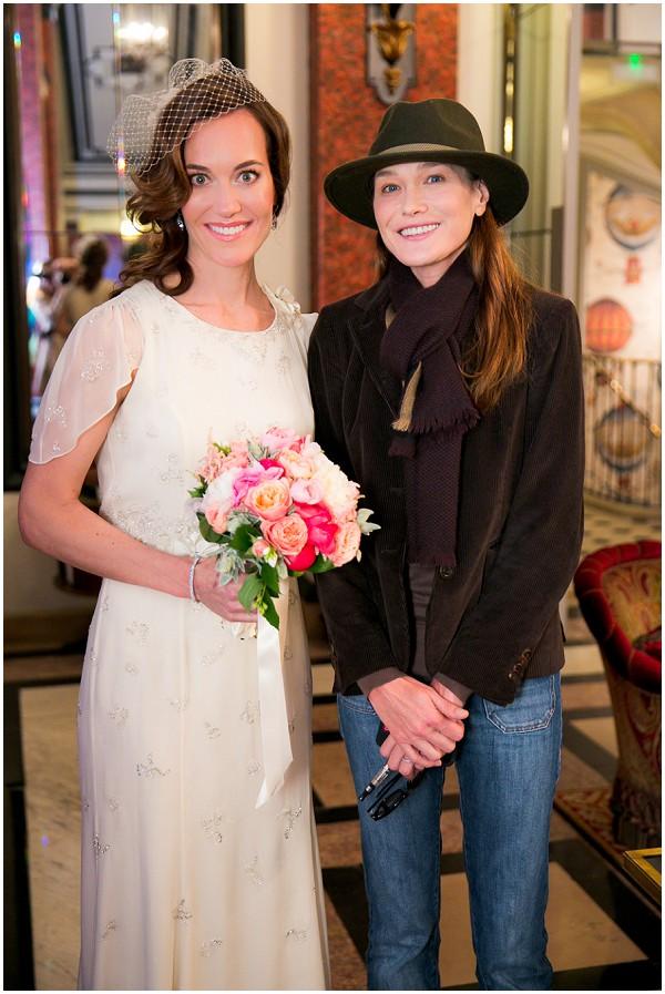Romantic Jenny Packham Wedding Dress For Paris Wedding At Lasserre