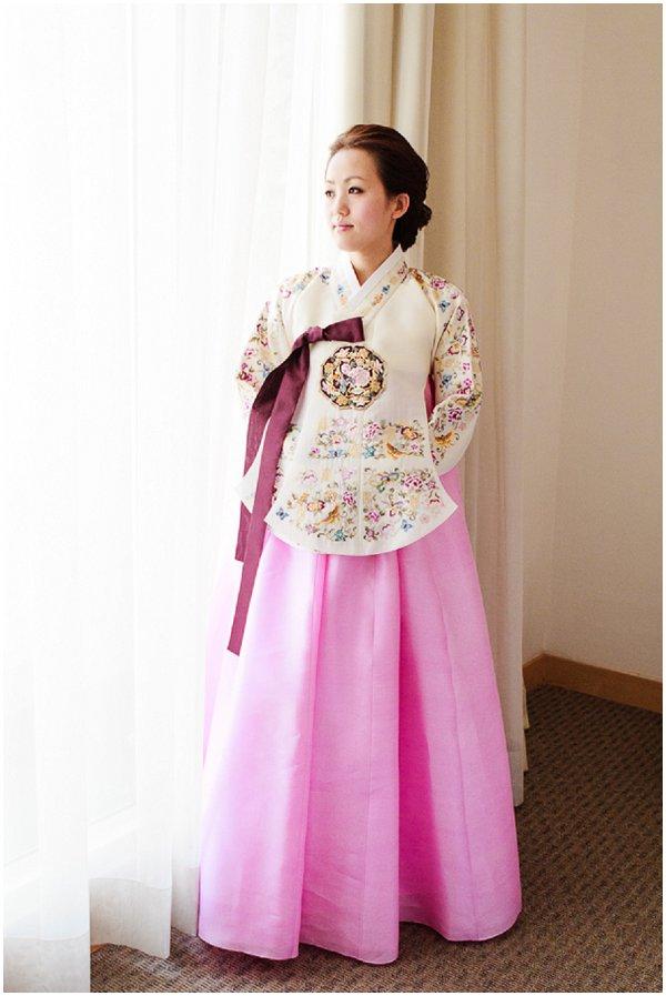 Hanbok wedding dress