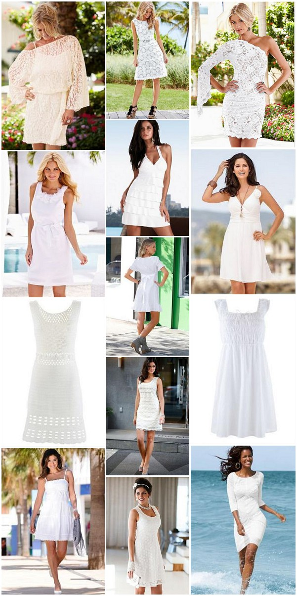 white beach party outfits for post wedding party