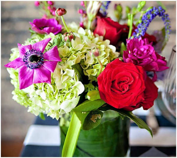 bold wedding flowers