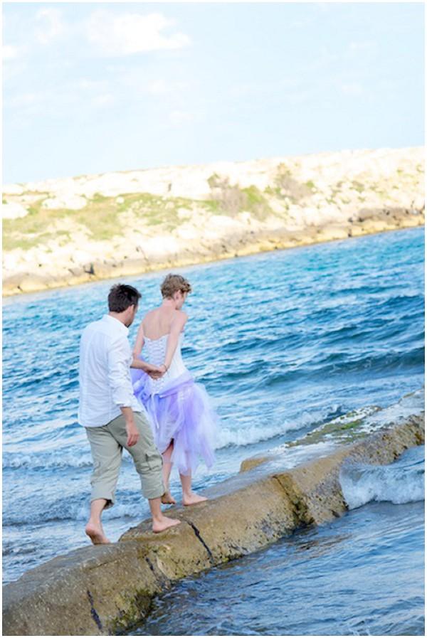 bride groom seafront