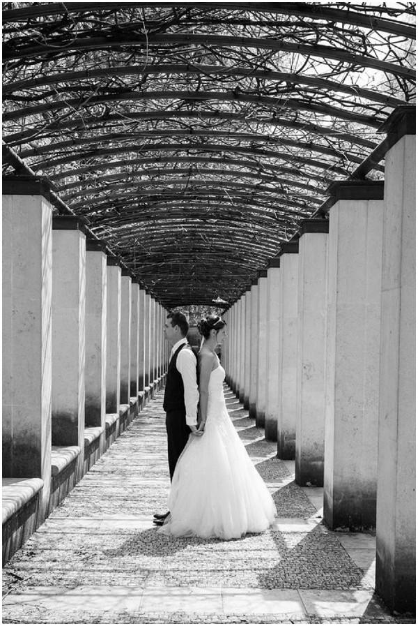 bride groom back to back