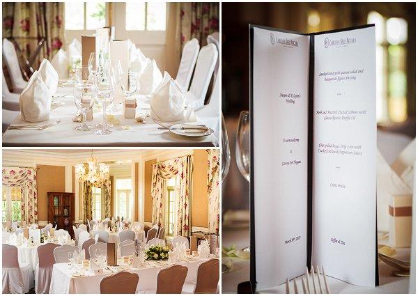 classic white wedding reception