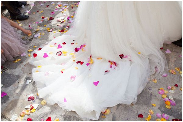 confetti wedding dress