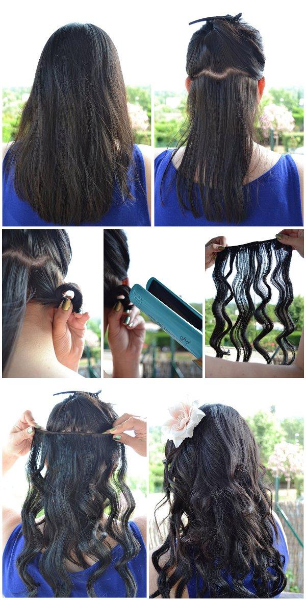 diy beach curls straighteners