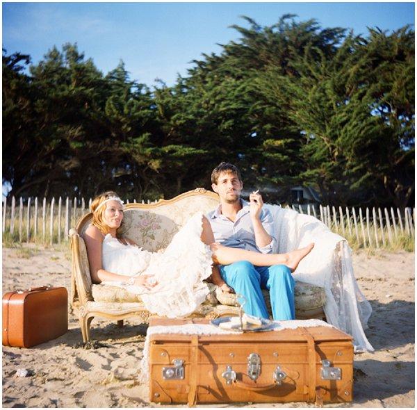 french boho beach bride